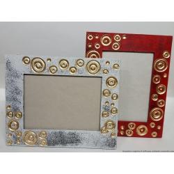 Coppia Porta foto legno colorati