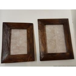 Coppia Porta Foto in legno massiccio 22