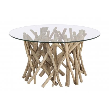 Tavolino Samira con vetro