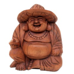 Happy Buddha con cappello h 40