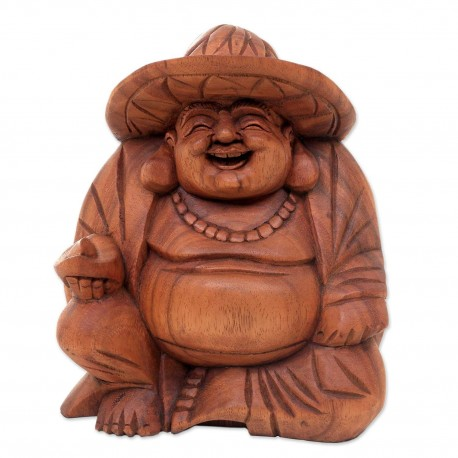 Happy Buddha con cappello h 20