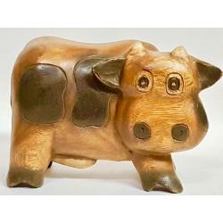 Mucca in legno cm20