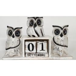 Calendario gatto legno