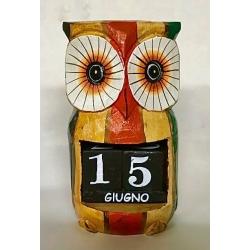 Calendario gufo legno