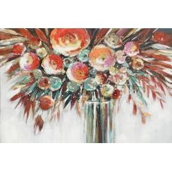 Quadro dipinto vaso fiori