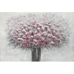 Quadro dipinto vaso fiori Jevral