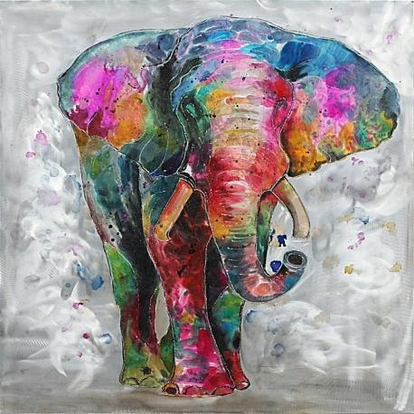Quadro dipinto Elefante Gajah