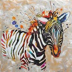 Quadro dipinto Zebra Kuda
